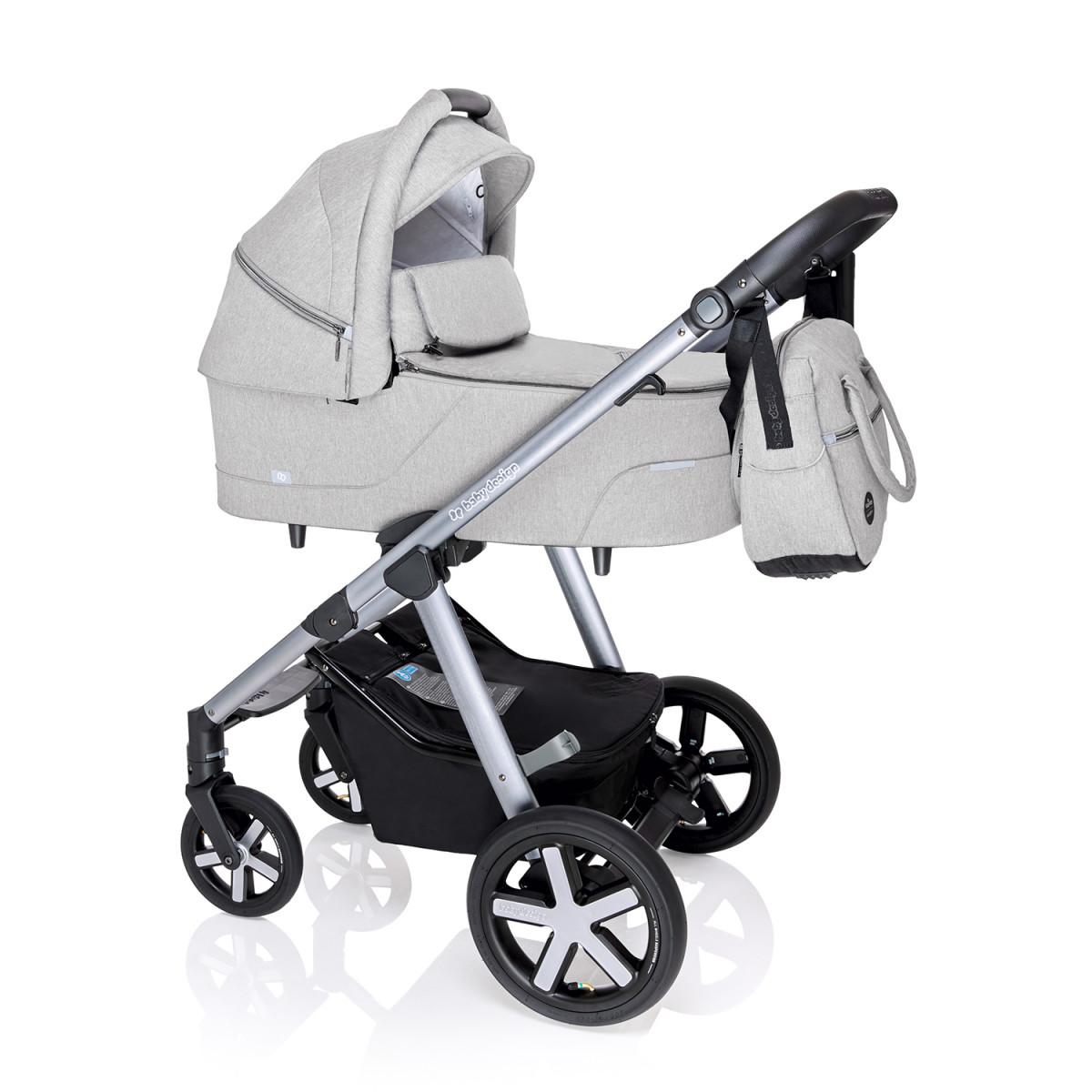 коляска Baby Design Husky 2020 27 light grey люлька